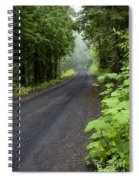 Misty Mountain Road Spiral Notebook