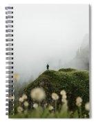 Misty Mountain View Spiral Notebook