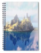 Misty Phantom Ship Island Crater Lake Spiral Notebook