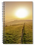 Misty South Downs Way Spiral Notebook