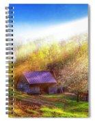 Misty Spring Morning Spiral Notebook