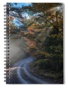 Misty Turn In The Road Spiral Notebook