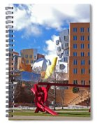 Mit Stata Center Cambridge Ma Kendall Square M.i.t. Sculpture Spiral Notebook
