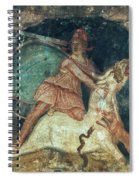Mithras Killing The Bull - To License For Professional Use Visit Granger.com Spiral Notebook