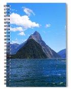 Mitre Peak In Milford Sound New Zealand Spiral Notebook