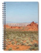 Mix Media Valley Of Fire  Spiral Notebook