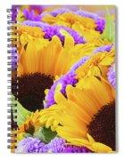 Mixed Autumn Flowers Spiral Notebook