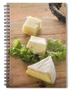 Mixed French Cheese Platter With Bread Spiral Notebook