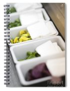 Mixed Fresh Herbs In Kitchen Interior Spiral Notebook