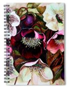 Mixed Hellebore Spiral Notebook