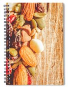 Mixed Nuts On Wooden Background Spiral Notebook