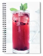 Mixed Red Berries And Wine Sangria Cocktail Jug Spiral Notebook