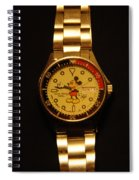 Mixkey Mouse Watch Spiral Notebook