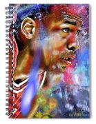 Mj Painted Spiral Notebook