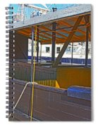 Mv  Krait In Darling Harbour Sydney Spiral Notebook