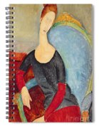 Mme Hebuterne In A Blue Chair Spiral Notebook
