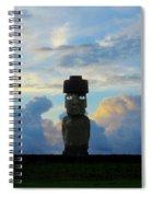 Moai Easter Island Rapa Nui Spiral Notebook