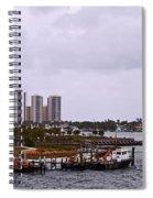 Moving Skyline Spiral Notebook