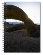 Mobius Arch Alabama Hills California 2 Spiral Notebook