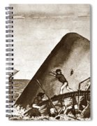 Moby Dick Both Jaws, Like Enormous Shears Bit The Craft Complete In Half Spiral Notebook