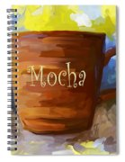 Mocha Coffee Cup Spiral Notebook