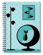 Mod Wallpaper In Aqua Spiral Notebook