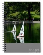 Model Boats Central Park New York Spiral Notebook
