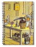 Model Kitchen, 1900s French Postcard Spiral Notebook
