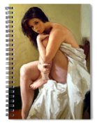 Model On The Chair Spiral Notebook
