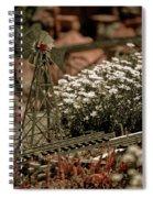 Model Railroad Windmill Spiral Notebook