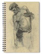 Model Study Of Standing Half-naked Man, For Seeing Down, George Hendrik Breitner, 1867 - 1923 Spiral Notebook