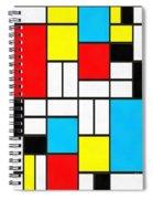 Modern Art Square Spiral Notebook