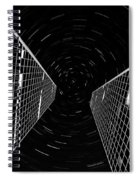 Modern Building With Star Tracks Night Photography Spiral Notebook