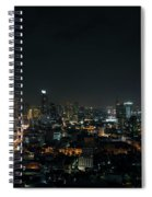 Modern Buildings In Silom Area Of Bangkok Thailand At Night Spiral Notebook