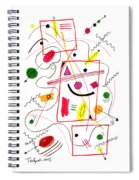 Modern Drawing Fifty-six Spiral Notebook