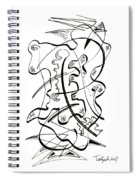Modern Drawing Forty-seven Spiral Notebook