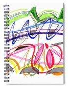 Modern Drawing Twenty-five Spiral Notebook