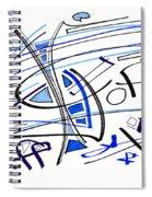 Modern Drawing Twenty-seven Spiral Notebook