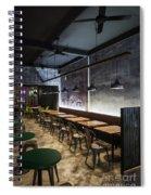 Modern Industrial Contemporary Interior Design Restaurant Spiral Notebook