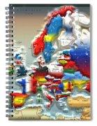 Modern Portrait Of Modern Europe - 3d Spiral Notebook