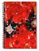 Modern Red Poppies - Sharon Cummings Spiral Notebook