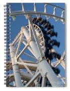 Modern Roller Coaster Spiral Notebook