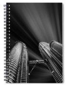 Modern Skyscraper Black And White Picture Spiral Notebook