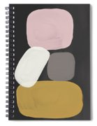 Modern Stacked Stones- Art By Linda Woods Spiral Notebook
