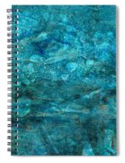Modern Turquoise Art - Deep Mystery - Sharon Cummings Spiral Notebook