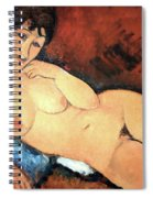 Modigliani's Nude On A Blue Cushion Spiral Notebook