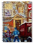 Moe's Corner Snack Bar And Diner Montreal Landmark  Restaurant Canadian Art Carole Spandau Spiral Notebook