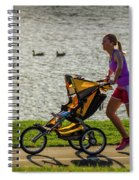 Moher And Child Jogging Spiral Notebook