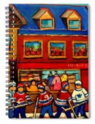 Moishes Steakhouse Hockey Practice Spiral Notebook