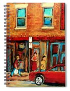 Moishes Steakhouse On The Main By Montreal Streetscene Painter Carole  Spandau  Spiral Notebook